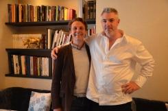 Maxiimin Hellio en compagnie de Guillaume Drouin, producteur de Calvados