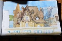 Les villas trouvillaises, vues par Agathe